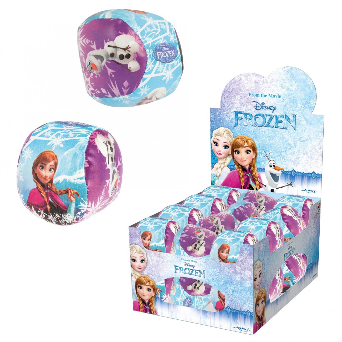 Žoga mehka Frozen, 10cm,24 s