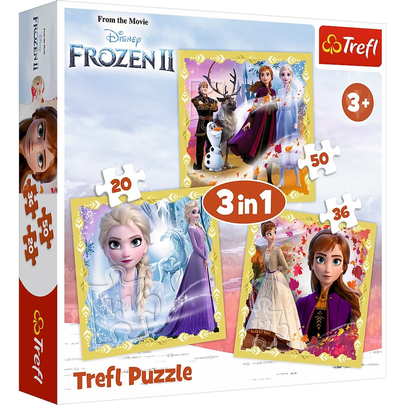 Sestavljanka 3v1 Frozen II