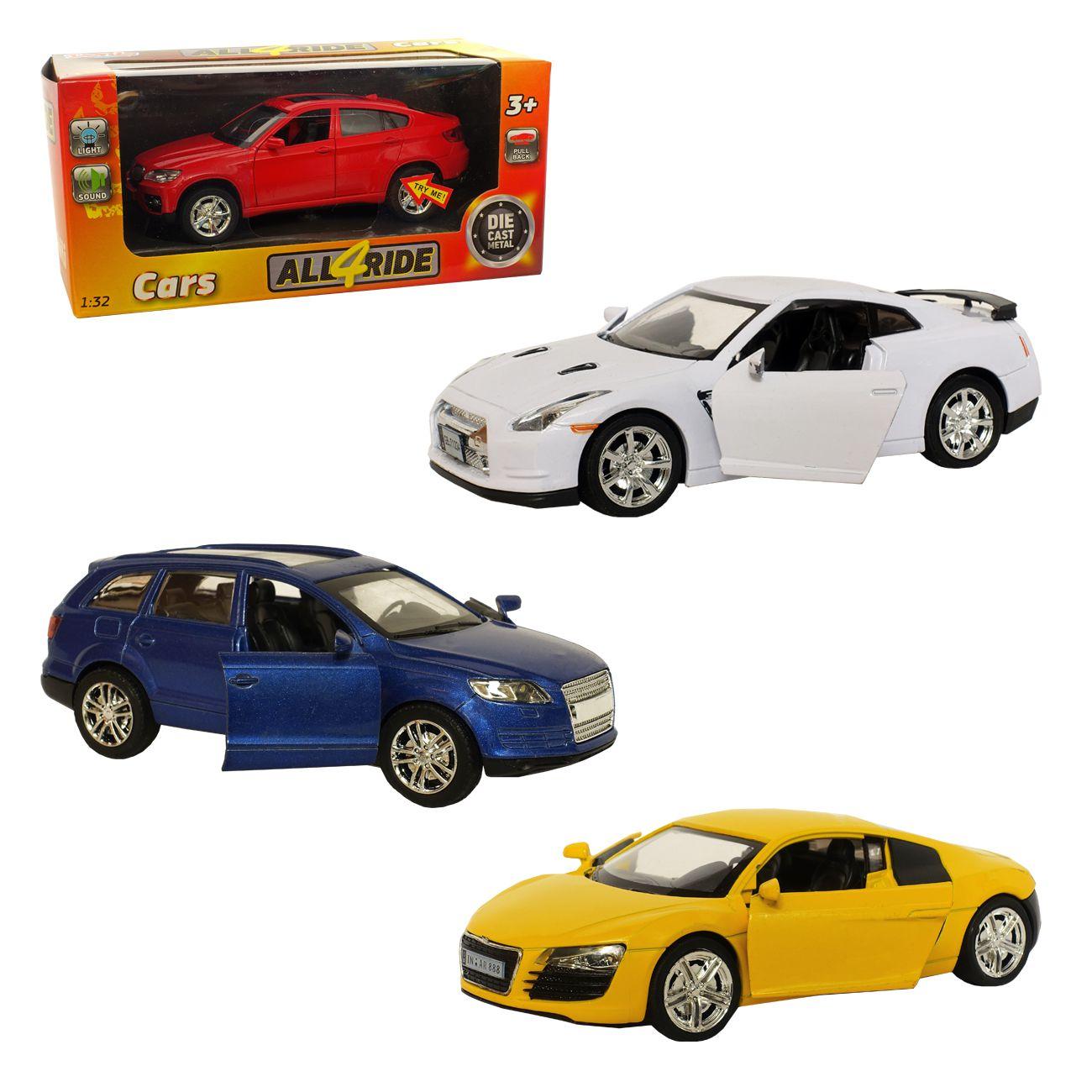 Avto, kovinski 1:32, 4 vrste