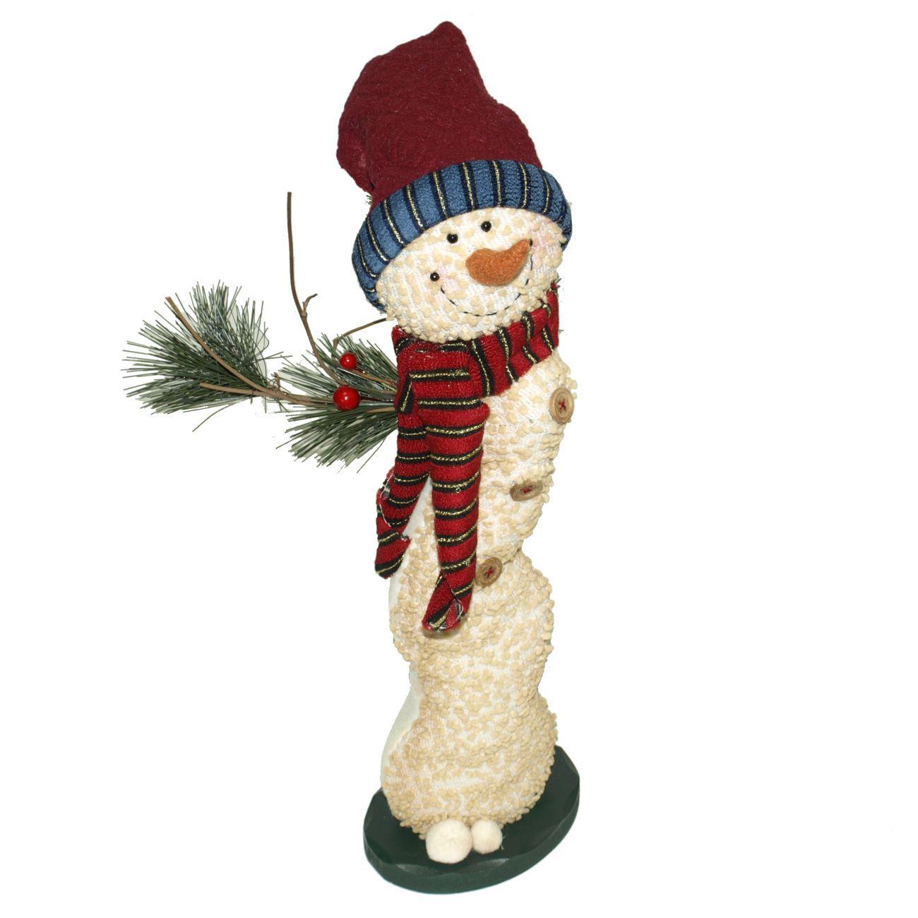 Sneženi mož/dekor. 40cm,3 vrst