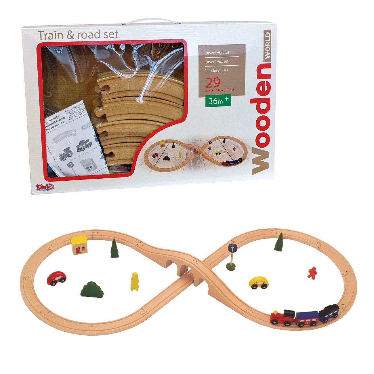 Vlak leseni set 29 delov