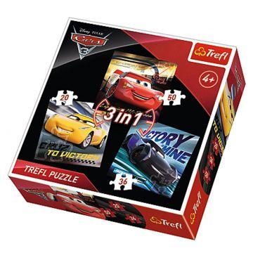 Sestavljanka 3v1 Cars