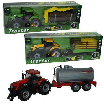 Traktor s prikolico, sort.