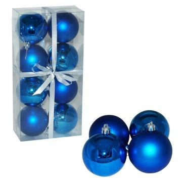 Kroglice modre, 7 cm, 8 kos
